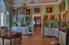 Art in Kabinet Fonarik (Light Room) in Pavlovsky Palace, Pavlovsk, a suburb of Saint Petersburg, Russia.