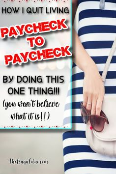 Are you tired of living paycheck to paycheck? Are you ready to take charge of your money? You won't believe what I do everyday to save more money each month! Best Money Saving Tips, Ways To Save Money, Money Tips, Saving Money, How To Make Money, Frugal Living Tips, Frugal Tips, Managing Money, Cash Money