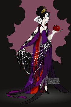 Designer Evil Queen ~ part of Evalynna's Designer Disney series featuring villains and princesses. Made using the Erte Elegance doll maker on dolldivine.com