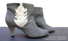 GOLDEN LEAF // Patricia Blanchet Léon low boots @ Matières à réflexion