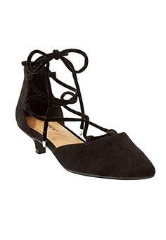 The Julieta Pump by Comfortview - Women's Plus Size Clothing Comfortable Dress Shoes, Black Pumps, Lace Up, Flats, Clothes For Women, Denim Dresses, Summer Outfits, Boutique, Amazon