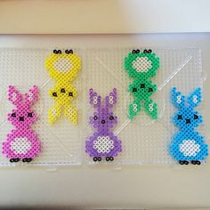 Easter ornaments hama perler beads by yosofine
