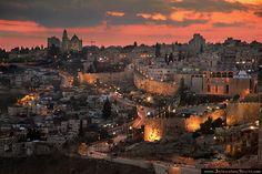 Mount Zion evening, Jerusalem ~ by RomKri