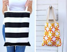Basic Pocket Tote from Made.  My first Home Ec. sewing project was a tote bag, but it didn't have a cool pocket!