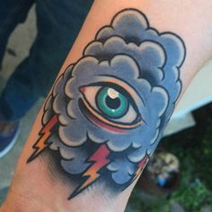 #cloud #eye #tattoo #boldwillhold #blackclawneedle
