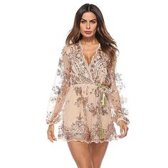 4acc6f047559 The Pretty Little Sheer Sequins Romper is ready for club nights! Sexy