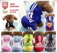 Wish | New Four Legs Design Pet Dog Clothes Hoodie Coat Jumpsuit Adidog Superman Clothing for Puppy Small Medium Dogs XS S M L XXL 8 Colors Chihuahua
