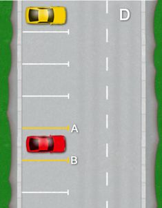 Bay parking step by step tutorial for the 2017 driving test. Diagram guide, how to bay park explained, help and instructions. Tips and technique Parallel Parking Tips, Driving Test Tips, Educational Activities, Driving School, Emo, Diagram, Training, Ideas, Cars