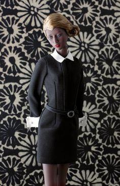Ujjwala by RDGDoll wears Belle de Jour little black dress by Tommydoll, Photo: Ernesto Padró-Campos