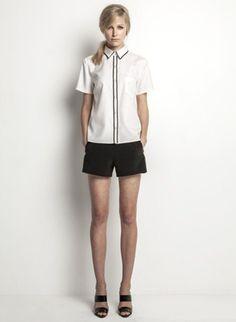 Helen Cherry Cameron Shirt (Vanilla) & Riley Shorts (Black) #HelenCherry