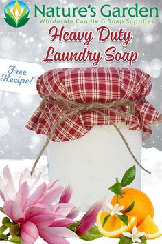 Free Natural Heavy Duty Laundry Soap Recipe by Natures Garden.