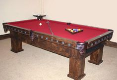 AMERICAN PRAIRIE COLLECTION - Pool Table w/ Nail Heads