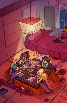 Shaburdies: Senshi Study Sesh! This was the piece I submitted to the Meatball Head Sailor Moon art show in LA at Meltdown Comics! The show was this past weekend and was curated by the wonderful Nico Colaleo, who had a bunch of amazing artists in the industry contribute to the show! I heard that it was a blast, and wish I could have been able to make it. ...