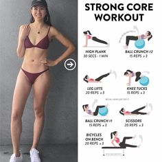Abs on fleek workout! Here's the core exercises I did today, and these are some of my absolute favorites! Buying a Swiss ball was…