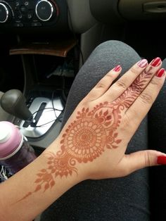 My first karwa chauth mehndi