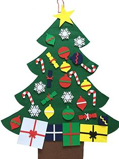 NIGHTGRING 95x68cm 3 Felt Wall Hanging Christmas Tree Set with Ornaments *** More info could be found at the image url. This link participates in Amazon Service LLC Associates Program, a program designed to let participant earn advertising fees by advertising and linking to Amazon.com.