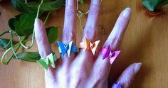 Design in Memory of Saburo Kase Hallo liebe Falterinnen und Falter ! Diese echt niedlichen Schmetterling Ringe sind ein Design von ...