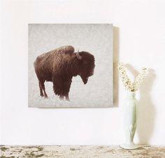 Gift for Him Bison Buffalo Art Southwest Tribal Wall Decor, $40