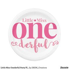 Little Miss Onederful Party Plates