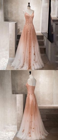 Unique champagne tulle long prom dress, tulle evening dress, Shop plus-sized prom dresses for curvy figures and plus-size party dresses. Ball gowns for prom in plus sizes and short plus-sized prom dresses for Pretty Prom Dresses, Tulle Prom Dress, Grad Dresses, Unique Dresses, Ball Dresses, Elegant Dresses, Sexy Dresses, Cute Dresses, Beautiful Dresses