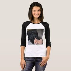 #Labrador Puppy Womens BellaCanvas Raglan T-Shirt - #labrador #retriever #puppy #labradors #dog #dogs #pet #pets