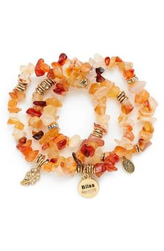 Sequin Stone Stretch Bracelets (Set of 3) | Bliss