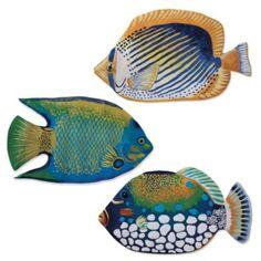 Hand-felted Fish Mats