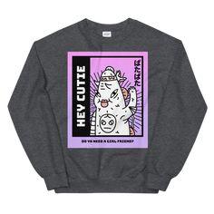 Hey Cutie Unisex Sweatshirt - Dark Heather 4XL