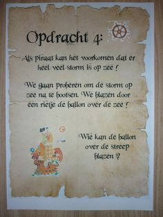 Draaiboek Piratenfeestje - Ik ga trakteren, Traktatie, Traktaties, Kindertraktatie, Kindertraktaties, Verjaardag, kinderfeestje Games For Kids, Diy For Kids, Activities For Kids, Little Man Birthday, Boy Birthday Parties, Peter Pan Party, Pirate Theme, Childrens Party, Party Time