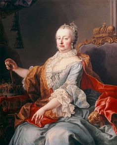 Maria Theresa - mother of Marie Antoinette Maria Theresa, Potrait Painting, Woman Painting, Marie Antoinette, History Museum, Art History, Austria, Jean Antoine Watteau, Luis Xiv