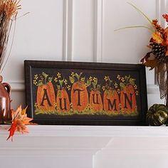 Autumn Pumpkins Framed Art Print
