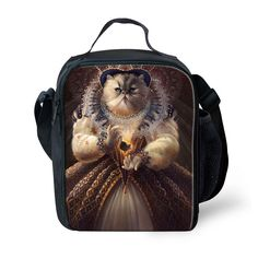Kids Cute Cat Cooler Insulated Thermal Lunch Bag Box Food Container School New #BIGCAR
