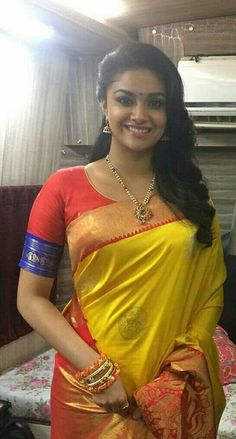 Actress Keerthi Suresh latest stills 344736546471296832 - Pictures Post Beautiful Girl Indian, Most Beautiful Indian Actress, Beautiful Saree, Beautiful Actresses, Gorgeous Women, Beauty Full Girl, Beauty Women, Moda Indiana, Sari Blouse Designs