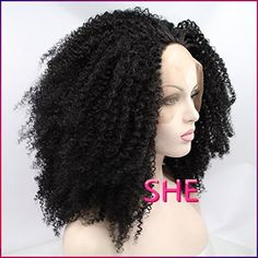 Find More Synthetic Wigs Information about Cheap Free Shipping Black kinky Curly Wig Heat Resistant Wig afro kinky curly synthetic lace front wigs,High Quality Synthetic Wigs from SHE Lady House on Aliexpress.com