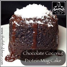 chocolate coconut protein mug cake