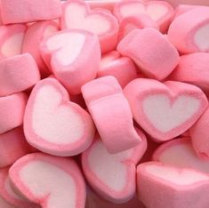 Pink Marshmallow Hearts-just the photo-no recipe Pink Love, Pretty In Pink, Hot Pink, Photowall Ideas, Tout Rose, Pink Foods, Aesthetic Colors, Aesthetic Pastel Pink, Peach Aesthetic