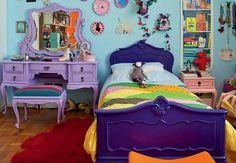 Decorar un dormitorio juvenil de máximo colorido - Todo Para tu Hogar Dream Bedroom, Girls Bedroom, Bedroom Decor, Bedrooms, Decor Room, Bedroom Ideas, Muebles Shabby Chic, Purple Rooms, Purple Bed