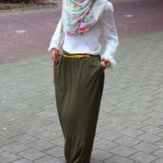 .Hijab maxi skirt