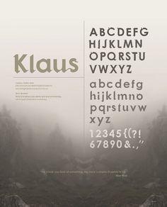 Klaus    a hybrid typeface. by Alexa Schara