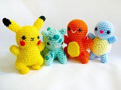 Pikachu pokemon etc  amigurimi crochet plush  no patterns