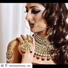The wonderful part of jewelry is that it elevates an outfit perfectly! In this photo shoot out you can see our preferred vendor @redcarpetready_van's stunning jewellery! Check out their IG page where you can see more of their bridal collection pieces!  ・・・ Looking for the perfect bridal jewelry? Come in today to RedCarpet Ready for the finest selection of amazing pieces.  Makeup and Hair: @girlfriendzstudio7 Model: @kirtisingh_ Stylist: @arpaandressedme