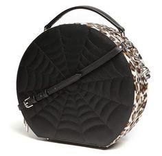 43ac5ffd0f5 Black Widow Hatbox by Lux De Ville - Black Matte   Leopard Leopard Print  Bag