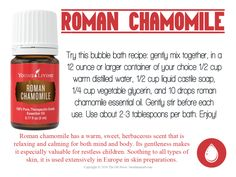 Love it, Share it: Roman Chamomile Chamomile Essential Oil, My Essential Oils, Young Living Essential Oils, Liquid Castile Soap, Bath Recipes, Roman Chamomile, Distilled Water, Vegetable Glycerin, Young Living Oils