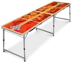Amazing offer on Best Choice Products Official Tournament Sized Beer Pong Table, Portable Foldable Outdoor, Indoor - Brown online - Ppwonderfulrange Beer Table, Beer Pong Tables, Ping Pong Table, Led Glow Lights, Tailgate Table, Simple Dining Table, Winsome Wood, Living Room Bench, Portable Table