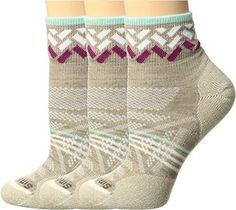 Smartwool Women's PhD Outdoor Light Mini Pattern 3-Pack Oatmeal Socks LG (Women's Shoe 10-12.5