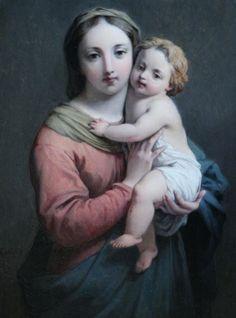 Hippolyte Dominique Holfeld (1804-1872): La Virgen con el Niño.