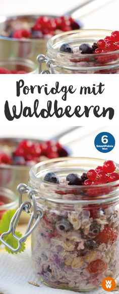 Porridge mit Waldbeeren | 6 SmartPoints/Portion, Weight Watchers, Frühstück, in 15 min. fertig