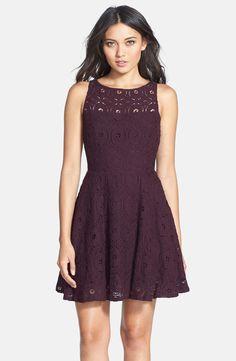 5b3ecc2eb0b4 BB Dakota 'Renley' Lace Fit & Flare Dress (Nordstrom Exclusive) Lila  Klänning