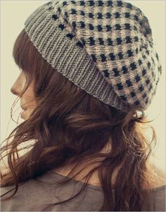 Check Slouch Hat / Interweave ..... this ould slouchy could be worn by guys or gals but just check the sizing chart I have posted on the board first lest you need extra stitches.. AJ