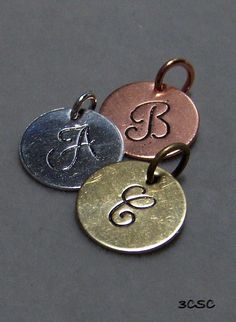 I really dig hand stamped metal jewelry